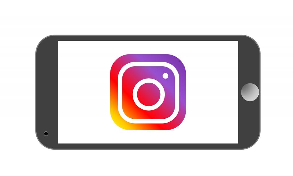 Instagram Logo im Handy